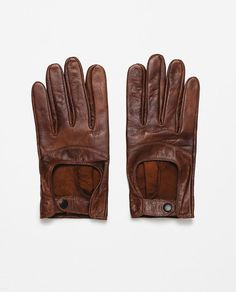 ZARA - MAN - LEATHER DRIVING GLOVES