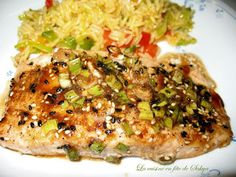 Recette Filet de saumon asiatique au miel et citron par La cuisine en fête de Sakya