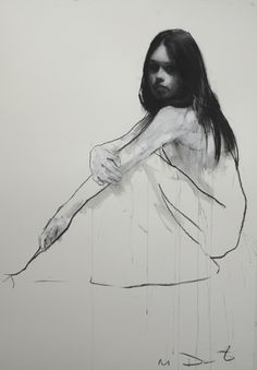 § Mark Demsteader - Holly seated 1 - pastel and collage 88 x 115 cm - vendu