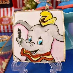 Hand-painted Dumbo Cookie from a Dumbo's Circus Party on Kara's Party Ideas | KarasPartyIdeas.com (7)