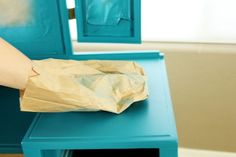 a brown paper bag over any (dry) painted surface that feels rough. Run a brown paper bag over any (dry) painted surface that feels rough.Run a brown paper bag over any (dry) painted surface that feels rough. Painting Concrete, Drip Painting, Painting Tips, Chalk Painting, Tips And Tricks, Paint Furniture, Furniture Makeover, Furniture Removal, Furniture Movers