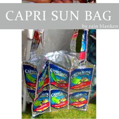 Make a Capri Sun bag out of juice pouches with this quick Capri Sun bag tutorial from Rain Blanken, your DIY Fashion Expert.