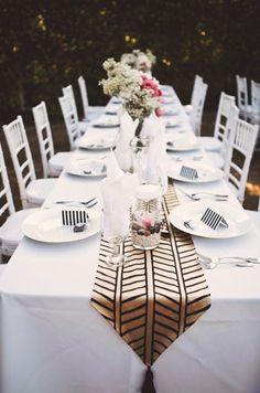 Wedding Stationery Inspiration: Black + White Stripes