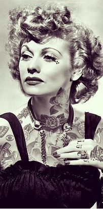Lucille Ball and Barbra Streisand | This Is What It Would Look Like If Your Favorite Celebrities Were Covered In Badass Tattoos