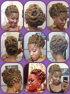 Two Strand Twist pin-up. I'm getting more creative #naturalhair #lochairstyles #locs #dreads