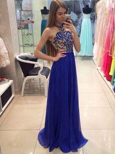 Long Custom prom dress, Royal Blue prom dress, Off shoulder prom dress, Chiffon prom dress, Floor-Length prom dress, Prom dress for Teens. PD2126