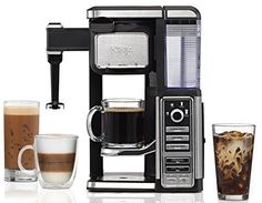 Bring the coffee shop to your home with a great sale on the Ninja Coffee Bar Single-Serve System at Zulily! To find it, go HERE and search for Coffee Bar Single-Serve System. You should see Best Espresso Machine, Espresso Maker, Espresso Coffee, Best Coffee, Espresso Kitchen, Cappuccino Maker, Free Coffee Maker, Ninja Coffee Maker, Carafe