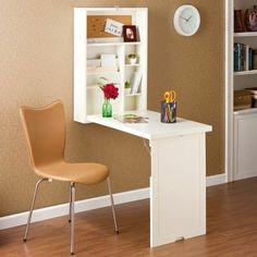 1-astuce-rangement-chambre-avec-un-meuble-gain-de-place-table-en-bois-mural.jpg (700×700)