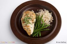 Grilled Chicken Breasts in Rosemary Marinade - Cook For Your Life