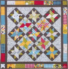 Quilt - pattern for starts here: https://www.popsbindings.com/freepatterns/MBS-frosted-stars.pdf
