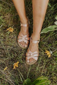 Salt Water Sandals in Rose Gold   ROOLEE