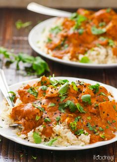 Healthier Butter Chicken. Ultimate Indian comfort food made healthier and lighter + unbeatable convenience of a crock pot
