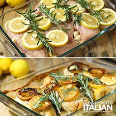 Rosemary Lemon Roasted Chicken Breasts are the best roasted chicken recipe ever! I am absolutely head over heals in love with this ! Moist, flavorful and miles away from ordinary. Lemon Roasted Chicken, Italian Baked Chicken, Lemon Rosemary Chicken, The Slow Roasted Italian, Roasted Chicken Breast, Oven Chicken, How To Cook Chicken, Seafood Recipes, Chicken Recipes