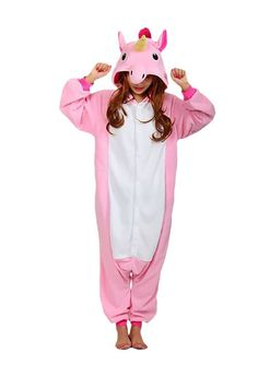 This soft toned color can have a gentle vibe sure to denote love and care. The pink unicorn pony style adult onesie does just that! Tailored out of soft flannel which is most comforting to touch and w