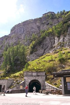 Tunnel Entrance to Hitler's Eagles Nest  OMG I remember this is the entrance to the brass elevator.