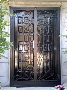 porte d\'entrée exterieur en fer forgé …   Pinteres…