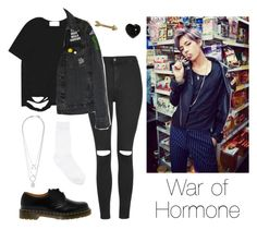 """BTS V: War of Hormone"" by btsoutfits ❤ liked on Polyvore featuring Topshop, Chicnova Fashion, Dr. Martens, Y's by Yohji Yamamoto, Maison Margiela and Finn"