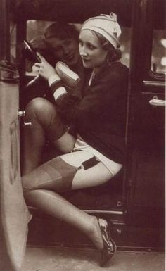 stockings, garter belts, girdles... the good ole' days  LOL