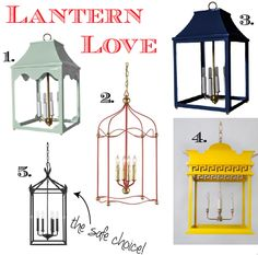 Lantern Love: This makes me want to get an old lantern and spray paint it!! So excited!