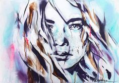 """ARTFINDER: Crystal Visions by Hannah Adamaszek - """"A thousand dreams within me softly burn"""" – Arthur Rimbaud  Medium: Painted in Acrylics, Montana Shock Pink, Cherry Blossom and Fresh Blue Materials: Orig..."""