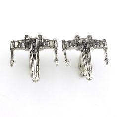 Star Wars Silver Aircraft Logo Cuff Buttons
