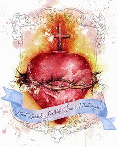 Art Du Collage, Digital Collage, Catholic Art, Catholic Gifts, Catholic Prayers, St Joseph, Spiritus, Heart Of Jesus, Jesus Art