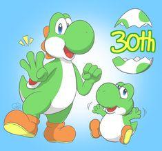 Some Games, Super Mario Bros, Yoshi, Nintendo, Fan Art, Twitter, Artist, Artwork, Fictional Characters