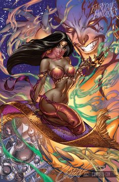 Jasmin (Sinbad) - Fairytale Fantasies by J. Scott Campbell (Disney Parody series)