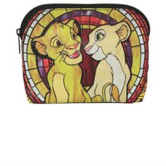 Disney The Lion King Simba & Nala Cosmetic Bag   Hot Topic (12 CAD) ❤ liked on Polyvore featuring beauty products, beauty accessories, bags & cases, bags, cosmetic purse, make up bag, dop kit, makeup purse and disney
