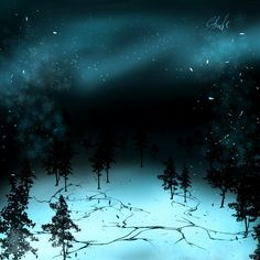 Chill winter night wallpaper