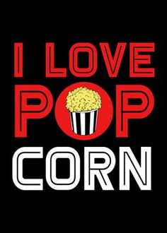 Metal Poster I Love Popcorn