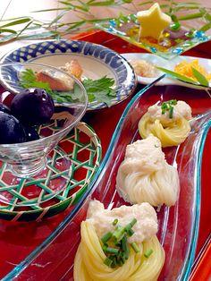 #food #japanese noodles 七夕冷やし汁そうめんお昼                              …