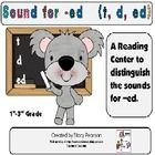 "This download is used for a center as students match words with how the ""ed"" sounds at the end."