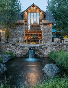 Rustic stone and wood apartment with a view of the Grand Tetons - Best house dec. - Rustic stone and wood apartment with a view of the Grand Tetons – Best house decoration – Rustic stone and wood apartment with a view of the Grand Tetons – Design Exterior, Rustic Stone, Wood Stone, Modern Rustic, Rustic Wood, Timber House, Stone Houses, Stone Barns, Backyard Landscaping