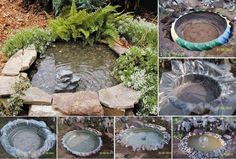 Tractor Tire Garden Pond Best 17 Best Images About Small Garden Fountains and Ponds On – pond Tire Garden, Garden Art, Garden Ponds, Garden Water, Water Pond, Water Gardens, Garden Design, Easy Garden, Backyard Ponds