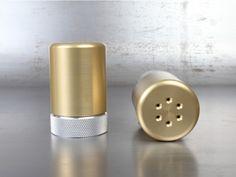 Knurled Aluminum Shaker Gold