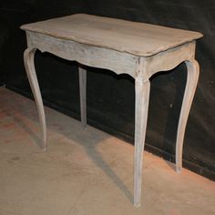 Bleached Oak Lamp Table-1920's French bleached oak lamp table. 1920.