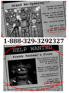 Why? Why would you give this number to a bunch of fangirls who would be calling their fnaf crushs, only for an old man in the Sutherlands to answer?