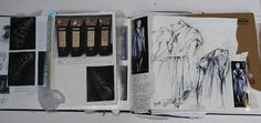 Fashion Sketchbook - fashion design research, dress sketches & textile samples // Halima Akhtar