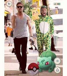 Went for a walk with #ryangosling and we happened to catch some Pokemon. What a cool cat!! Have you caught yours? #dinolicious #pokemongo #coolestcatever #dinogosl #pokemongoals