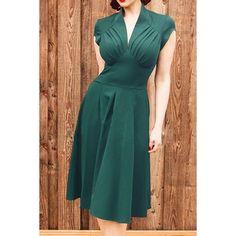 Vintage V-Neck Dress