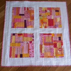 Hart's Fabric - Love the straight line quilting!