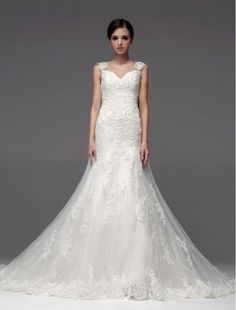 /3826-10915-thickbox/tulle-and-lace-v-neckline-mermaid-wedding-dress-with-sheer-overskirt.jpg