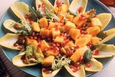 Pomegranate and Papaya Salad with Ginger Dressing