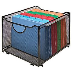 $16 Innovative Storage Designs Mesh Collapsible Crate Black by Office Depot & OfficeMax