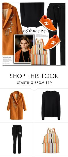 """""""BLACK AND ORANGE"""" by nanawidia ❤ liked on Polyvore featuring Helmut Lang, New Balance, blackandorange, womenswear and twinkledeals"""