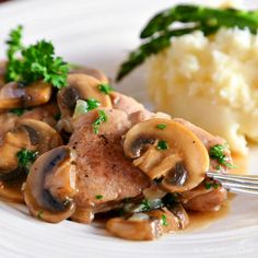 Easy Pork Marsala is quick to prepare with sliced pork tenderloin, mushrooms, cooking wine, and a few other common ingredients.