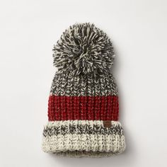 This is so cute minus the pom pom Chunky Cabin Toque Baby Hat Knitting Patterns Free, Knitting Designs, Knit Patterns, Knitting Projects, Crochet Projects, Cable Knitting, Knitting Socks, Free Knitting, Knitted Hats