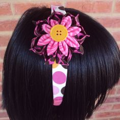 Flower Headband - Kanzashi - Girls Headband