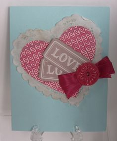 Sharing Creativity and Stampin': Updated Valentine on Time Cards